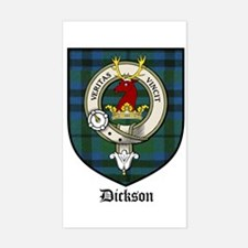 Dickson Clan Crest Tartan Rectangle Decal