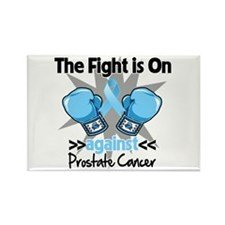 Fight is On Prostate Cancer Rectangle Magnet