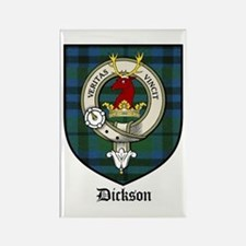 Dickson Clan Crest Tartan Rectangle Magnet (10 pac