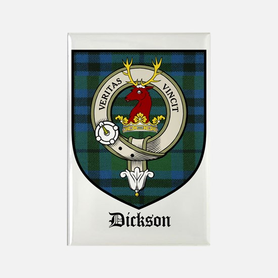 Dickson Clan Crest Tartan Rectangle Magnet (10 pac