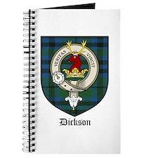 Dickson Clan Crest Tartan Journal