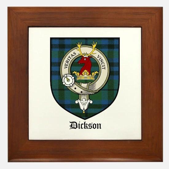Dickson Clan Crest Tartan Framed Tile