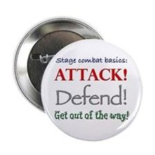 """Stage combat basics - 2.25"""" button (10 pack)"""