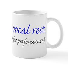 Vocal rest mug