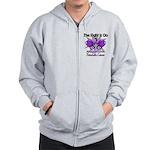 Fight Pancreatic Cancer Zip Hoodie