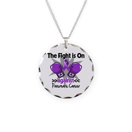 Fight Pancreatic Cancer Necklace Circle Charm