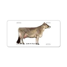 Brown Swiss Dairy Cow Aluminum License Plate