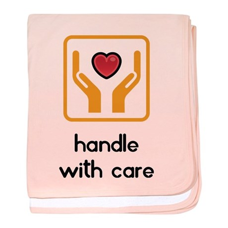 baby blanket handle with care Girl/Boy