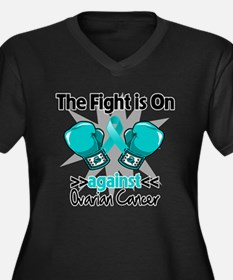 Fight is On Ovarian Cancer Women's Plus Size V-Nec