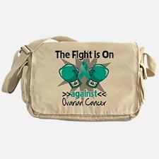 Fight is On Ovarian Cancer Messenger Bag