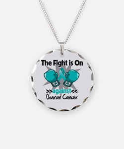 Fight is On Ovarian Cancer Necklace