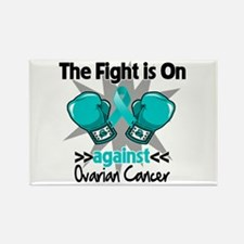 Fight is On Ovarian Cancer Rectangle Magnet
