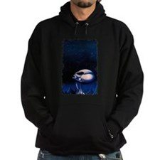 Alien looking at the night sk Hoodie