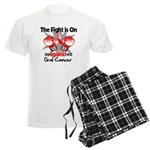 Fight is On Oral Cancer Men's Light Pajamas