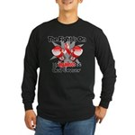 Fight is On Oral Cancer Long Sleeve Dark T-Shirt
