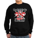 Fight is On Oral Cancer Sweatshirt (dark)