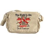 Fight is On Oral Cancer Messenger Bag
