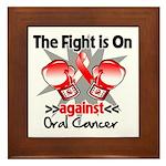 Fight is On Oral Cancer Framed Tile