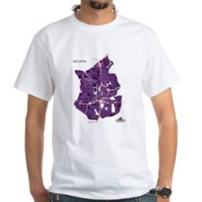 Atlanta Men's T-Shirt Purple on Shirt
