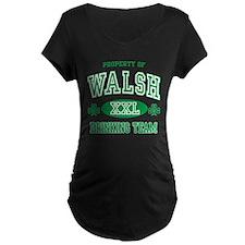 Walsh Irish Drinking Team Maternity Dark T-Shirt