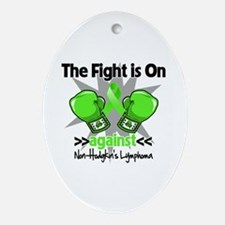 Fight Non-Hodgkins Lymphoma Ornament (Oval)