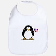 Patriotic penguin Bib