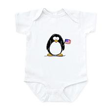Patriotic penguin Infant Creeper