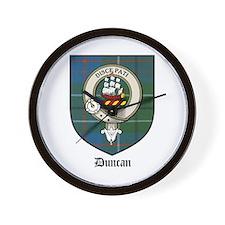 Duncan Clan Crest Tartan Wall Clock