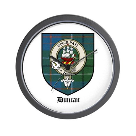 Duncan Clan Crest Tartan Wall Clock By Coatofarmscrest