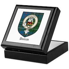 Duncan Clan Crest Tartan Keepsake Box