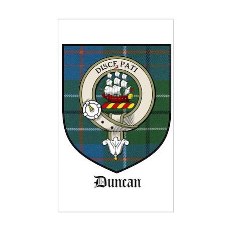 Duncan Clan Crest Tartan Rectangle Sticker