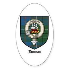 Duncan Clan Crest Tartan Oval Decal