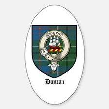 Duncan Clan Crest Tartan Oval Decal