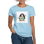 Artist penguin Women's Pink T-Shirt