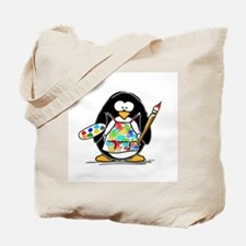 Artist penguin Tote Bag