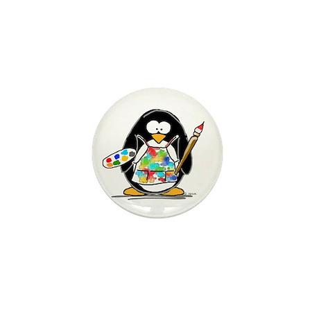 Artist penguin Mini Button