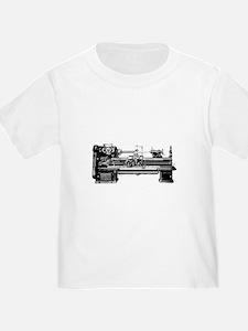 lathe white text T-Shirt