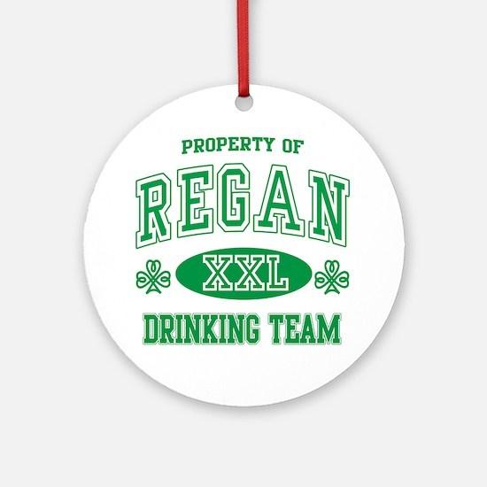 Regan Irish Drinking Team Ornament (Round)