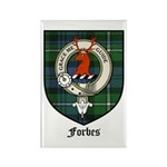 Forbes Clan Crest Tartan Rectangle Magnet (10 pack