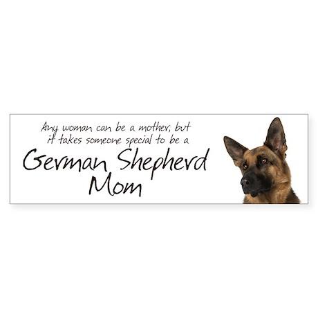 German Shepherd Mom Sticker (Bumper)