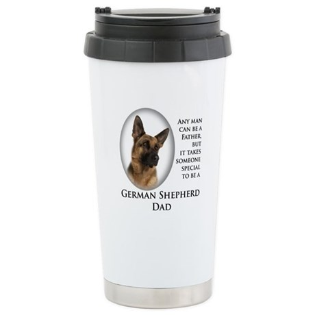 German Shepherd Dad Stainless Steel Travel Mug