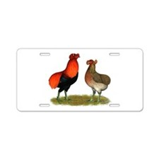 Araucana Chickens Aluminum License Plate