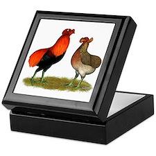 Araucana Chickens Keepsake Box