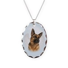 German Shepherd Angel Necklace