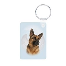 German Shepherd Angel Keychains