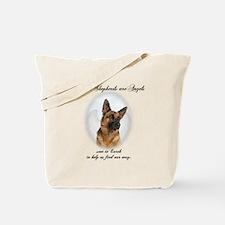 German Shepherd Angel Tote Bag
