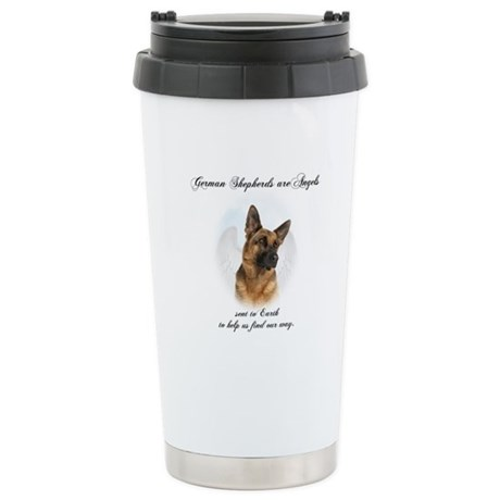 German Shepherd Angel Stainless Steel Travel Mug
