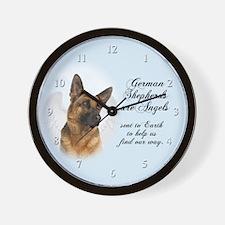 German Shepherd Angel Wall Clock