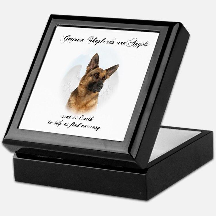 German Shepherd Angel Keepsake Box