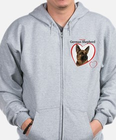German Shepherd Zipped Hoody